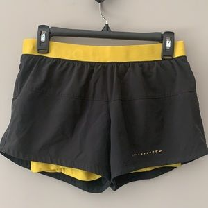 """NIKE """"Livestrong"""" Lined (Spanx) Athletic Shorts"""
